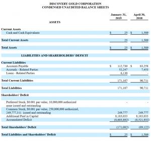 DCGD short report financials