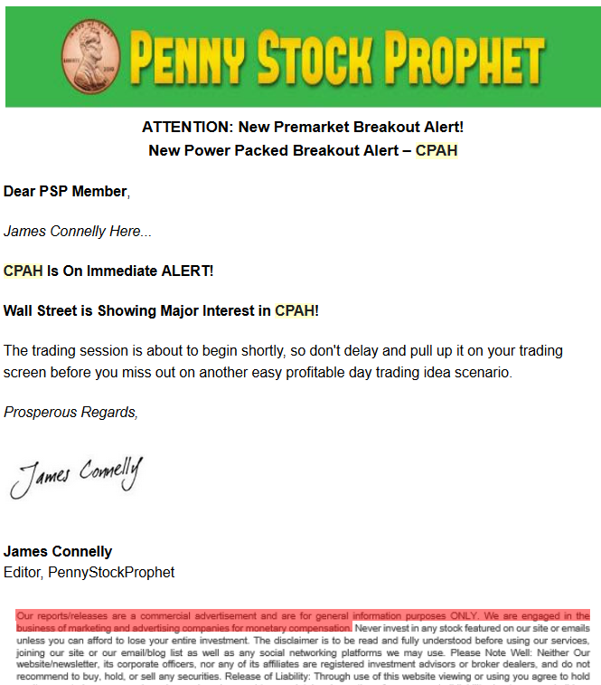 CPAH Prophet promotion short report