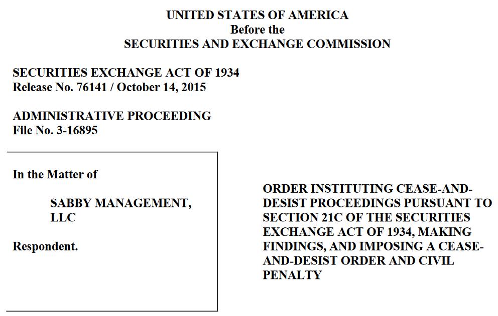 TNXP short report Sabby lawsuit
